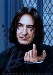 Severus Snape ( In secret...) and Draco Malfoy یا Ron Weasley. That would make an very interesting subject. I don't mind handeling all three of them ;) Of course Severus Would be my پسندیدہ Xxx