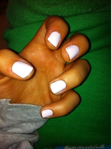 Most of the time I paint them this light розовый color thats called Fiji, that I have on my nails right now. :) But other than that, mint green, light purple, and black.