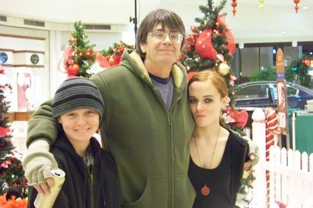 Me with my step dad, Jim, and twin sister.
