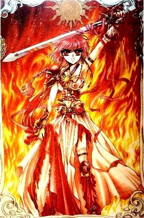 my favorito color is red and my favorito characther with red hair is Hikaru.