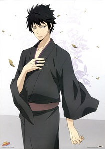 My favourite color is black, the character in the picture is Hibari Kyoya from Katekyo Hitman Reborn! <3