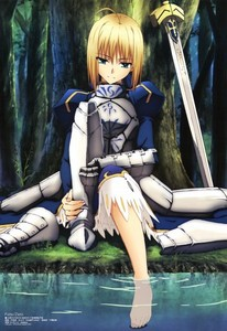 Saber from Fate/Stay Night xD
