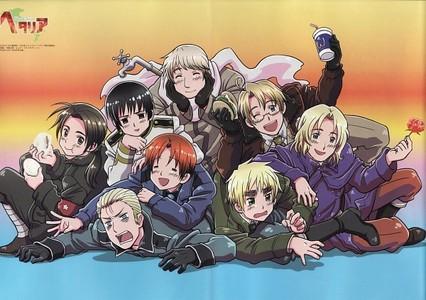 1)Axis Powers:Hetalia 2)Durarara!! 3)Higurashi no naku koro ni 4)Fullmetal Alchemist: Brotherhood 5)Kuroshitsuji