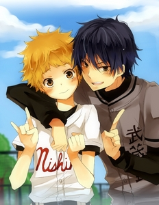 Mihashi and Haruna hehhe Two too cuties ;D
