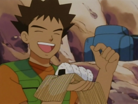 Brock and his... jelly-filled donuts.... (Surprised no one put this)