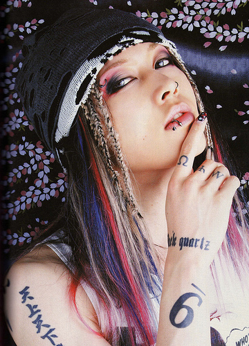 hmm, when i started watching anime, i liked the op & end themes, then my sister gave me her old miyavi cd, and i got hooked! happy 30th b-day miyavi^,..,^