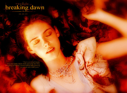 i think is goint to be that bella opens her eyes and they are red and she is a vampire