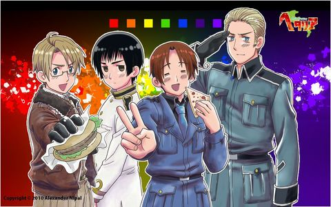 Axis Powers Hetalia! That`s my fave Anime ever! :D