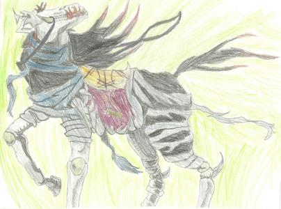 """Sussie """"Black"""" Sapphire (below is Atrum, Sussie's horse, in Rider form) and all the RPs i'm in."""