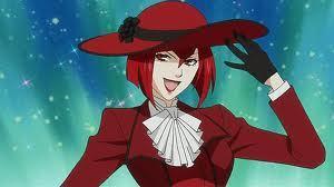 madame red from kuroshitsuji (idkif grell countz cuz he alwayz calls himself a girl