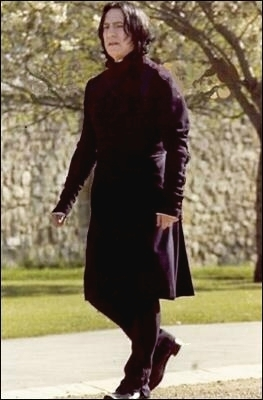IF tu were walking on a calle and tu see Severus Snape walking toward you, what will happen?