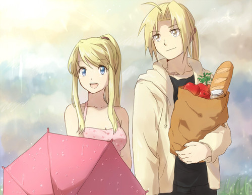 Edward and Winry from FMA.