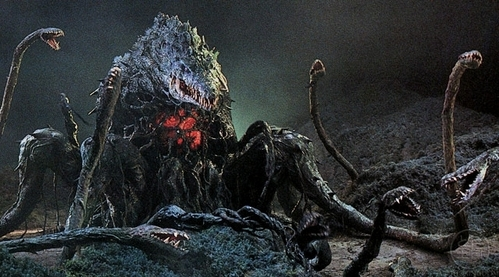 On film, it's Biollante. It weighs a hefty 220,000 tons.