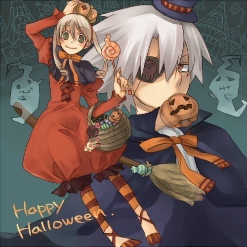 Post a picture of a anime in halloween time anime - This is halloween soul eater ...