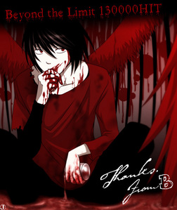 My fav colour is both black & red:3 the pic is of Beyond Birthday from Death Note<3