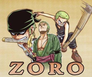 Zoro and Kiba Inuzuka