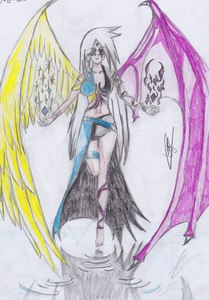 My niece gave me manga drawing کتابیں and the first time I saw them I thought: AAAWwhhh what a HANDSOME looking manga guys :P . then I started to watch Naruto etc. and I began to draw anime/manga :) - end of the story - Pic: devil-angel