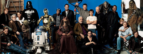 This is my favorite because it has the main cast from both the classics and the prequels. Also Hayden looks pretty awesome in this one...just saying...