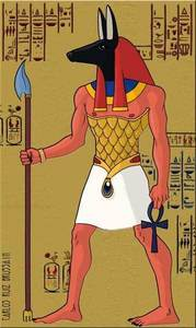there is gods i প্রণয় called anubis,sobeck,horus and seth আপনি should know about it cause im a egyptianolagist this picture is anubis