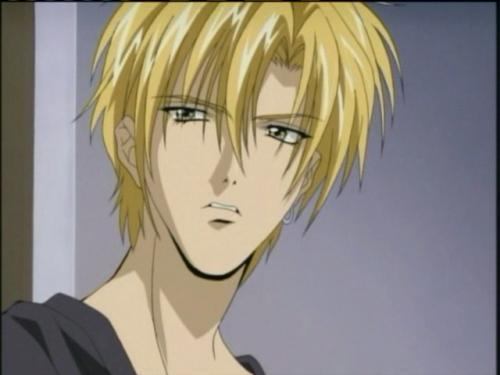 Lucky you, my computer is actually working for once. Okay, I think he most resembles Yuki from gravitation. Remember there are others that look like him so I could be wrong.