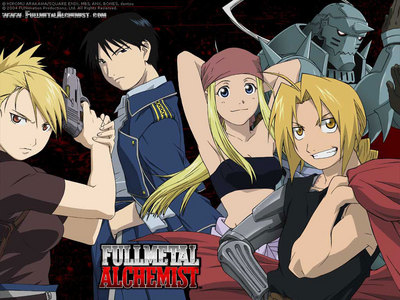 FullMetal Alchemist! If people losing limbs while trying to bring back the dead WHILE fighting the results of these failed attempts isn't scary enough, I don't know what is! There's also a bit of romance mixed in here and there, too!