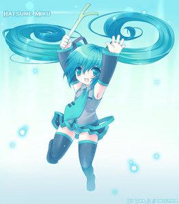 Hatsune Miku from Vocaloid! :D ((I wonder why many people hate/dislike Miku))
