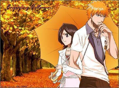 ichigo andd rukia in autumn