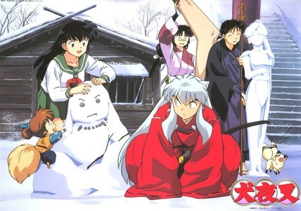 i love this pic of the InuYasha gang in the winter