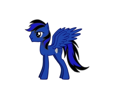 yes, i did, actually his name is aerowing. he's a fast flyer, but he also has some musical talents. he's not a very outgoing pony, but he'll do anything when asked 由 a friend. did i also mention he's competitive?
