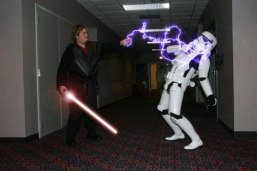 Telekinesis. General Force power of Jedi & Sith. Lightning. A Sith Force power I really like. JD