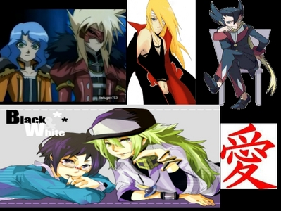 Gus, deidara,Cheren, Grimley, Lord N, (  sorry about spectra)