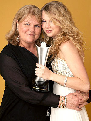 with her mom. :]