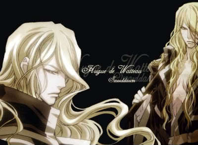 I love his hair!  He's from Trinity Blood.