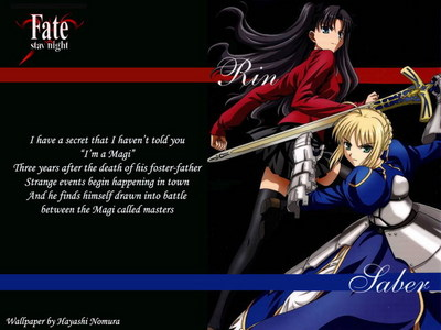 1.Fate/Stay Night 2.Angel beats 3.Clannad Season 1-2 4.Spice and بھیڑیا this Picture below is from my پسندیدہ عملی حکمت Fate/stay night.