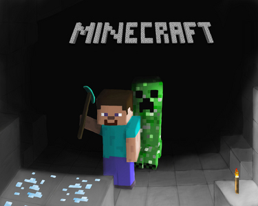 Cling to my sword saying 'No, no, no, no, Creeper, enderman, zombie, skeleton, STAY AWAY! >.<'
