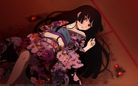 Ai Enma from jigoku shoujo.