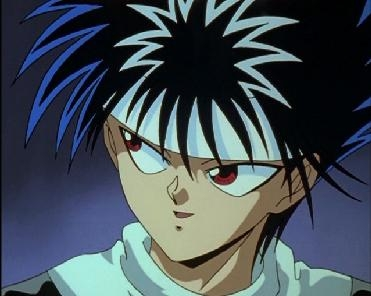 <b>Hiei from Yu Yu Hakusho! he has red eyes!</b>