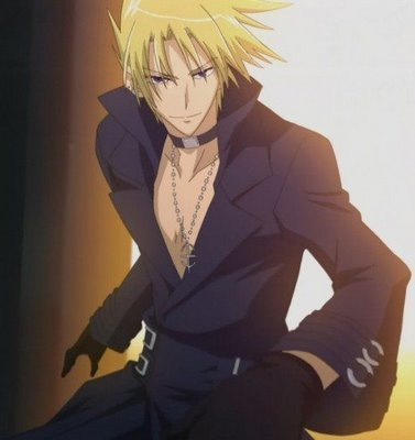 contest post a anime boy with blonde hair and brown