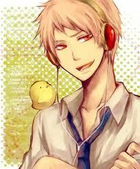 Prussia with his cute Gilbird x3