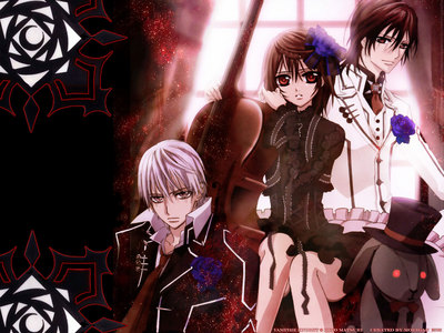 It changes every week. Right now, it's Vampire knight. I prefer the मांगा though...