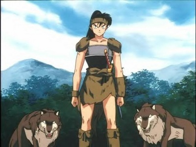 Koga with 2 of his wolves.