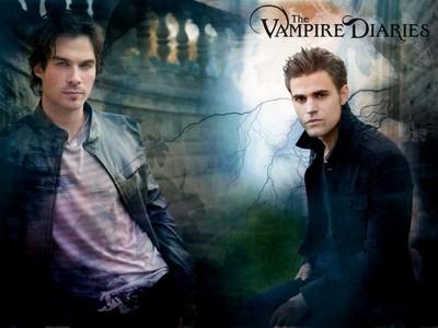 "Ian Sumerhalder (Damon Salvatore) and Paul Doley (Stefan Salvatore) From ""The Vampire Diaries""!! <3 <3 <3 :D"