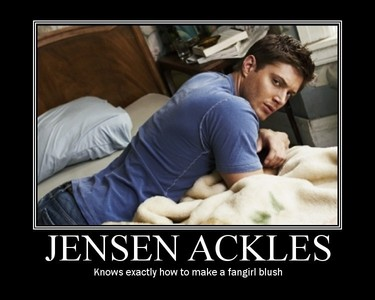dean winchester ( jensen ackles ) he is awesome and look at him