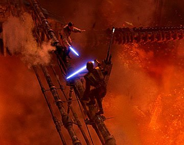 My inayopendelewa scene of his is his duel against Obi-Wan. It's such a dramatic and climactic scene!!!! It's definitely sad, though :(
