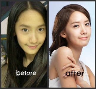 I'm not trying to protect my bias, but honest, I think Jessica, she only got braces and that doesn't count as plastic surgery. I don't think Taeyeon and Seohyun - possibly Sooyoung did either... Yoona DID have plastic surgery on her nose and chin, unless it's the makeup which I would doubt. :]