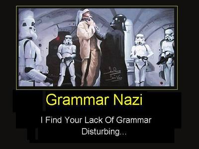Proper grammar. That's what anda need.