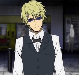 Blond Anime boy that looks like Patrick? No, sorry. Blonde Anime boy: Shizuo Heiwajima. One of my preferito Anime boys period. Hope te still like it. X3