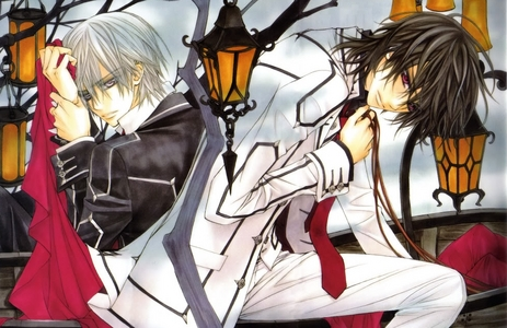 Was just asked but, M'KAY. Anime: It's actually a tie between Hetalia and DuRaRaRa!! Manga: Vampire Knight. X3