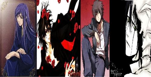 THOSE 4 <333333333333 Yunoki Azuma From La Corda d'Oro Kaname Kuran From Vampire Knight Sasuke Uchiha From NARUTO -ナルト- Ulquiorra Schiffer From Bleach