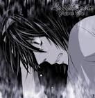 L from Death Note, right before he dies